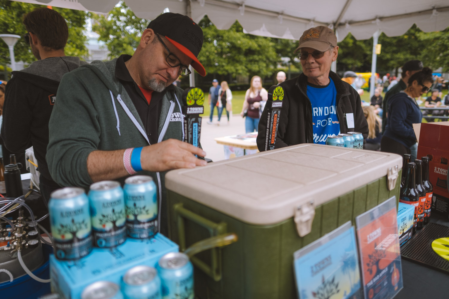 Thousands came out to CenturyLink Field for the annual Bacon, Eggs and Kegs - a boozy brunch laden with breweries, restaurants, mimosas, bacon and eggs (obviously) and the most insane customizable Bloody Mary bar. If this isn't taking brunch to the next level, we don't know what is. (Image: Ryan McBoyle/ Seattle Refined)