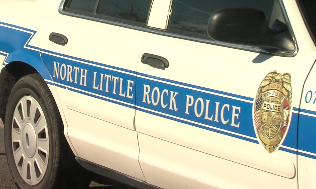 North Little Rock police were on scene assisting in the search near the Walmart on Maumelle Blvd. (KATV Photo)