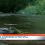 Pipeline suspended after spill