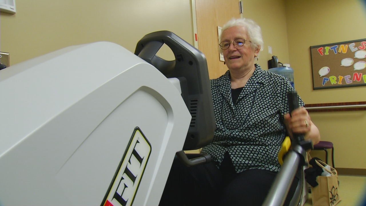 Maggie Edens, 70, got moving after a visit to the doctor revealed she was pre-diabetic. (Photo credit: WLOS staff)