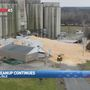 Massive cleanup underway after grain silo collapses