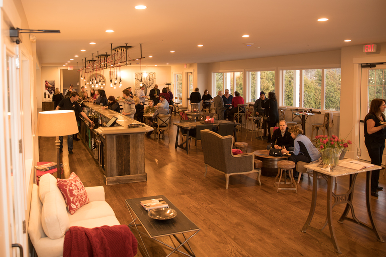 The elegant new tasting room at Greenhill Vineyards will accommodate more patrons (Photo credit Focal Point Creative)