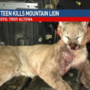 IA teen kills mountain lion near Akron