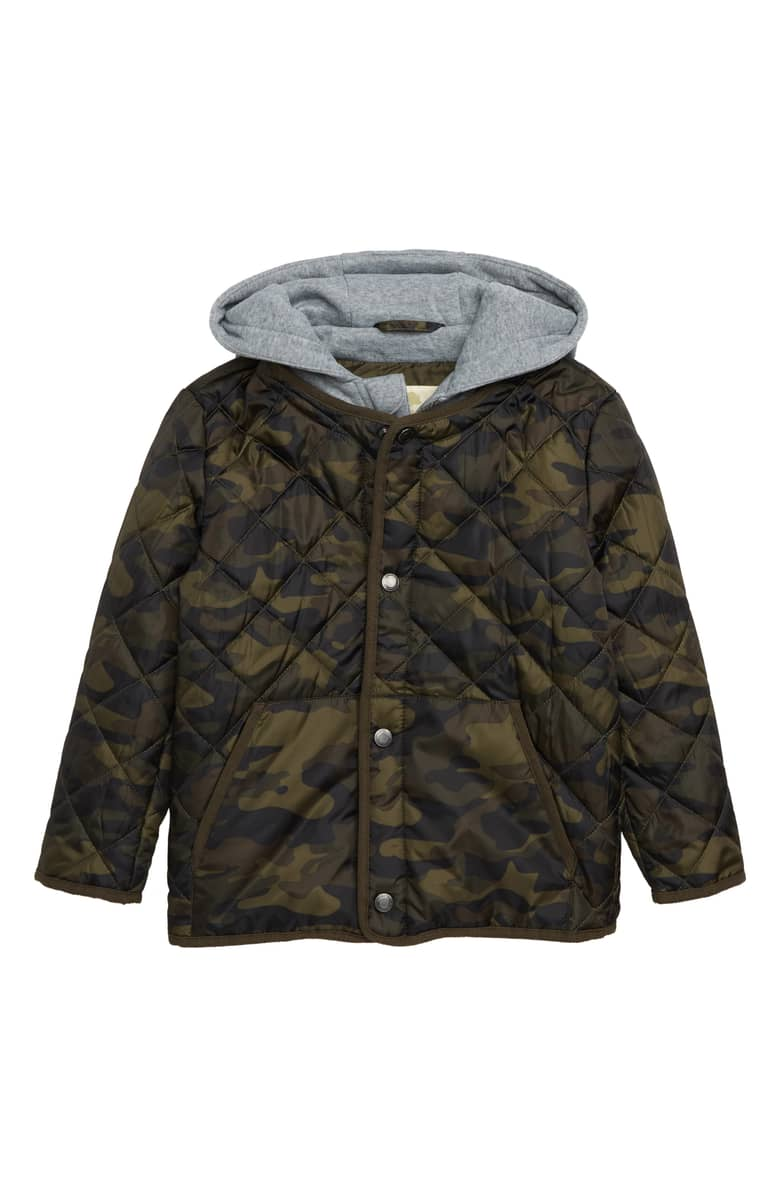Tucker + Tate Quilted Camoflauge Jacket, $49.{ }Treat the kiddos in your world to something fun! Put a smile on their face with these Nordstrom picks! (Image courtesy of Nordstrom).