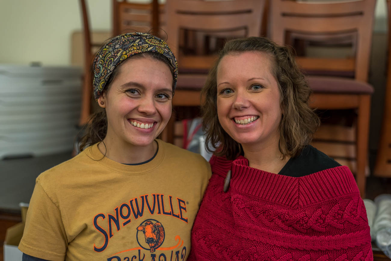 Morgan Roosa of Snowville Creamery and Jamie Coates-Donohue of Grandola Granola /{&amp;nbsp;}Image: Mike Menke<p></p>