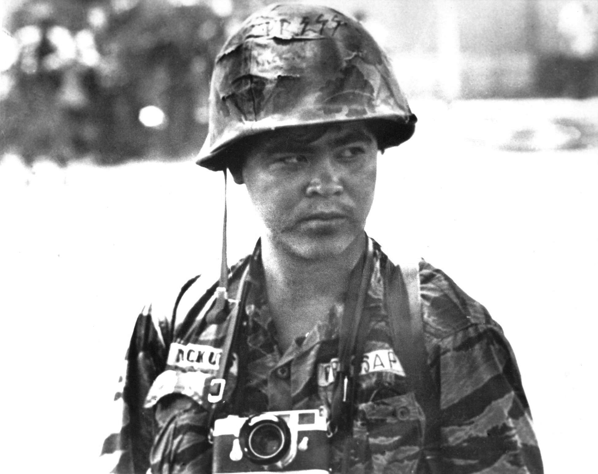 This undated file photo shows Associated Press photographer Nick Ut in Vietnam. Ut will be retiring from the AP in March 2017 after 51 years of taking photographs from the front lines of the Vietnam War to the red carpets of Hollywood. THE ASSOCIATED PRESS