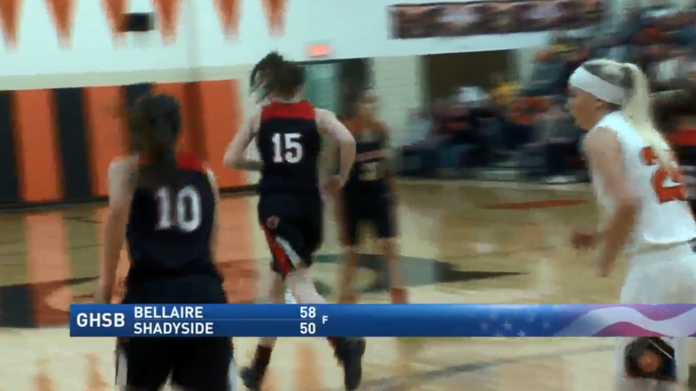 1.4.18 Highlights - Bellaire vs Shadyside - girls basketball