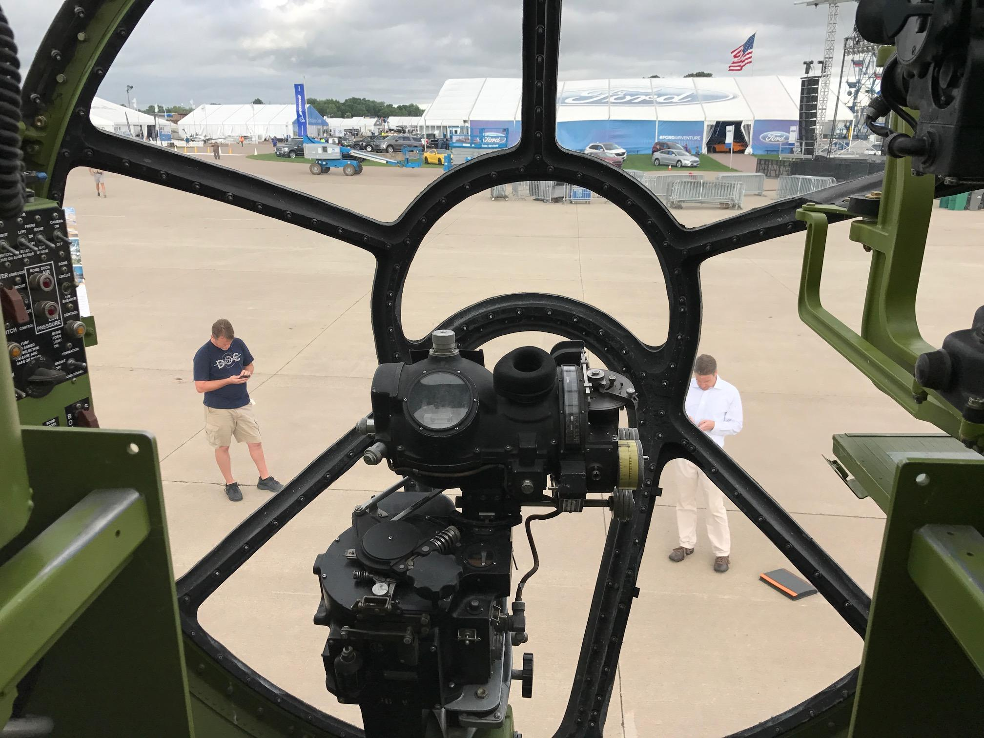 "The inside of the B-29 bomber ""Doc"" is on display at EAA AirVenture in Oshkosh July 24, 2017. (WLUK/Lauren Kalil)"
