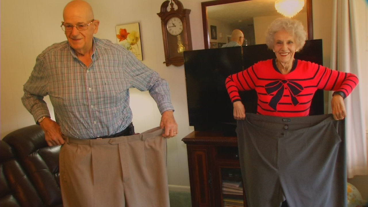 Becky Hensley and her husband Donnie once weighed about 370 pounds each. The Weaverville couple lost nearly 400 pounds total through Weight Watchers. (Photo credit: WLOS Staff)