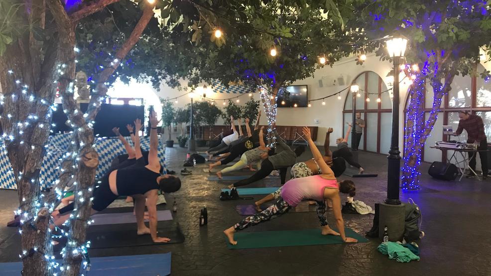 Hofbräuhaus Las Vegas hosts an afternoon of beer & yoga