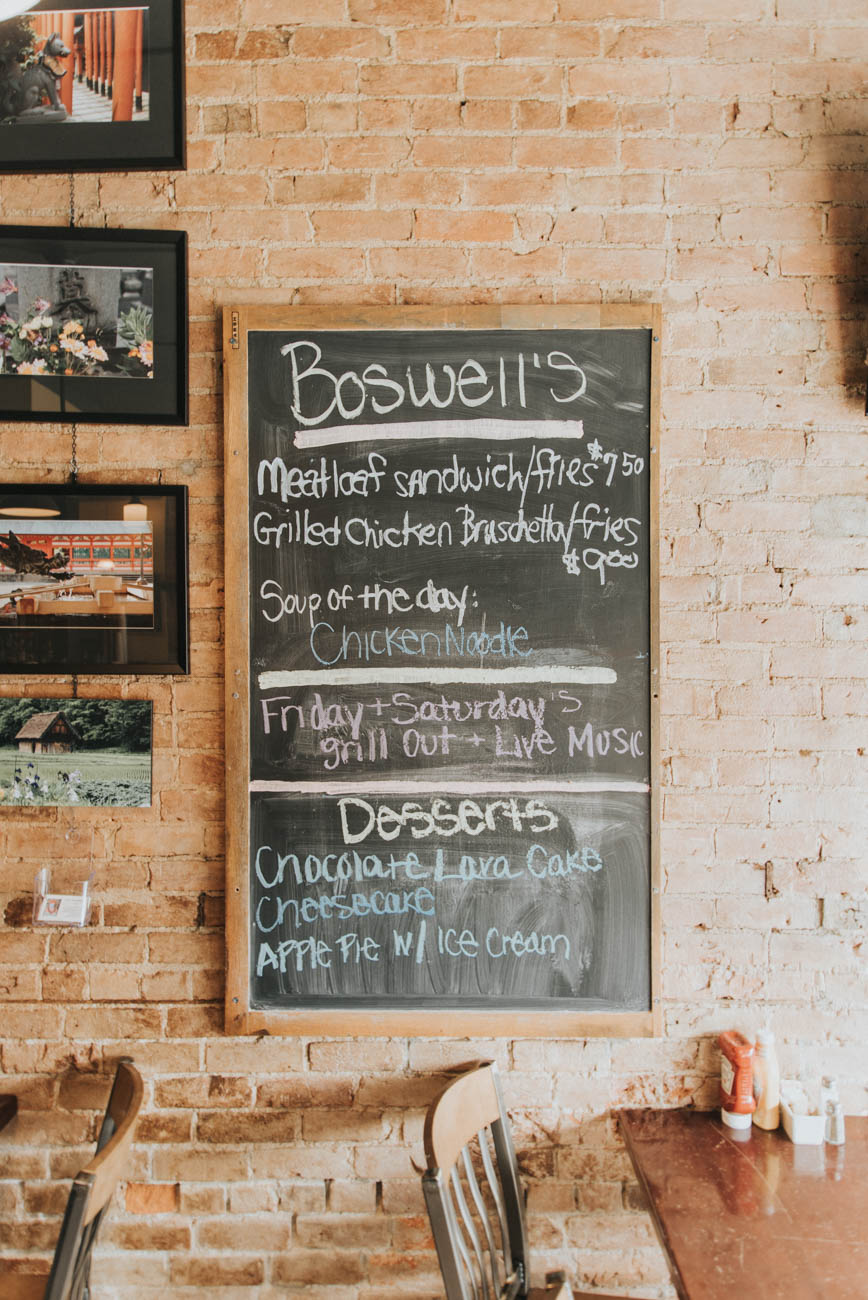 Boswell Alley (named for the alley beside the building) is a laid back Northside restaurant serving lunch and dinner. The evening menu features a daily steak special, and the venue regularly doubles as a prime location for live music. According to the website, the building which houses Boswell's dates back to 1886. / Image: Brianna Long // Published: 9.2.17