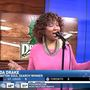 Yolanda Drake sings for FOX45 in the Morning before Dragon's Opening Day