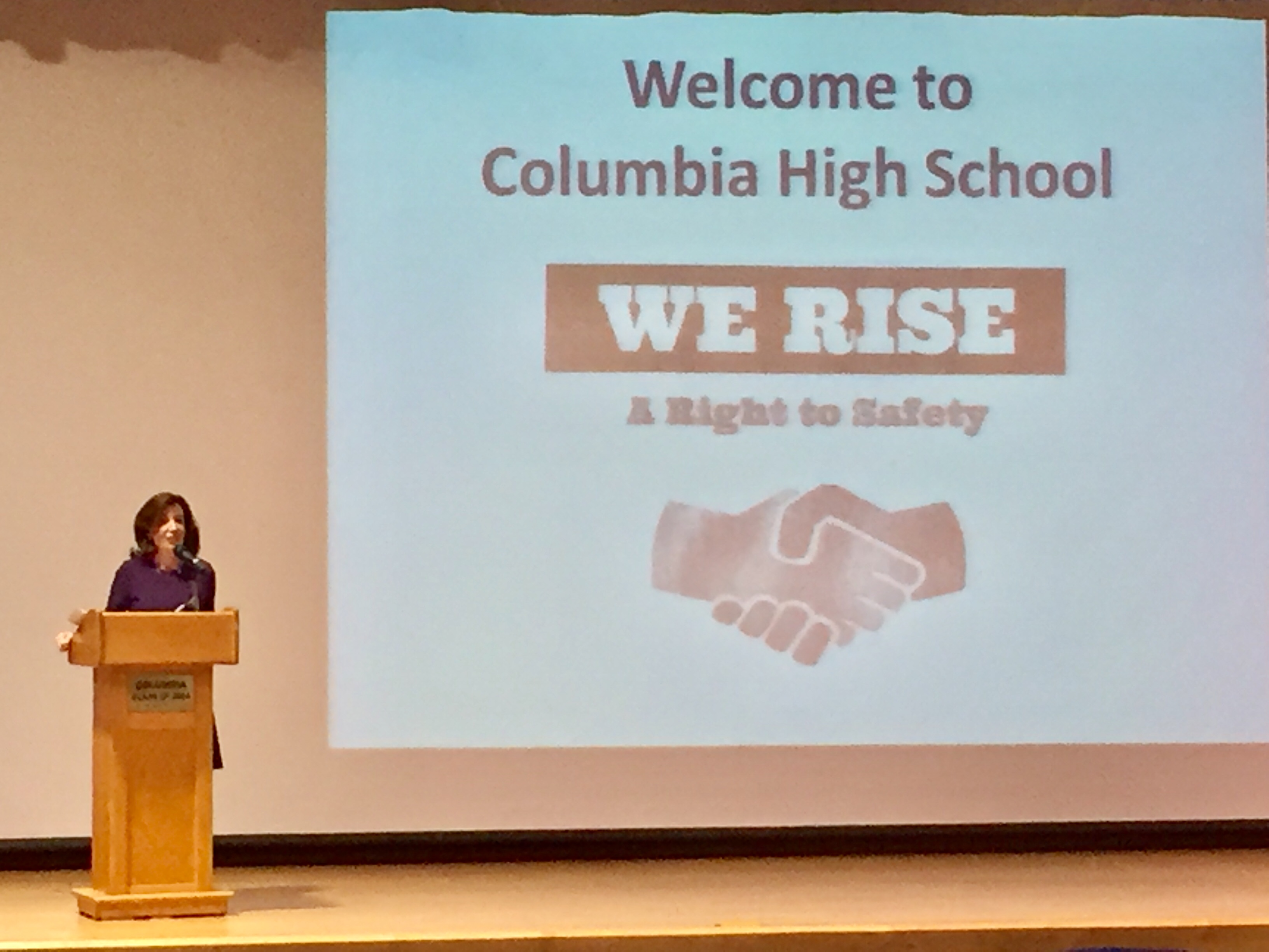 Columbia High School holds assembly