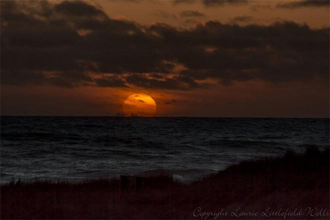 Beautiful Sunset tonight at Ocean Shores after a stormy weekend! Laurie Littlefield-Wells