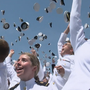 Midshipmen Naval Academy graduation features Trump speech, Blue Angels flyover, hat toss