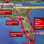 Hurricane Irma moving north with increasing winds before landfall