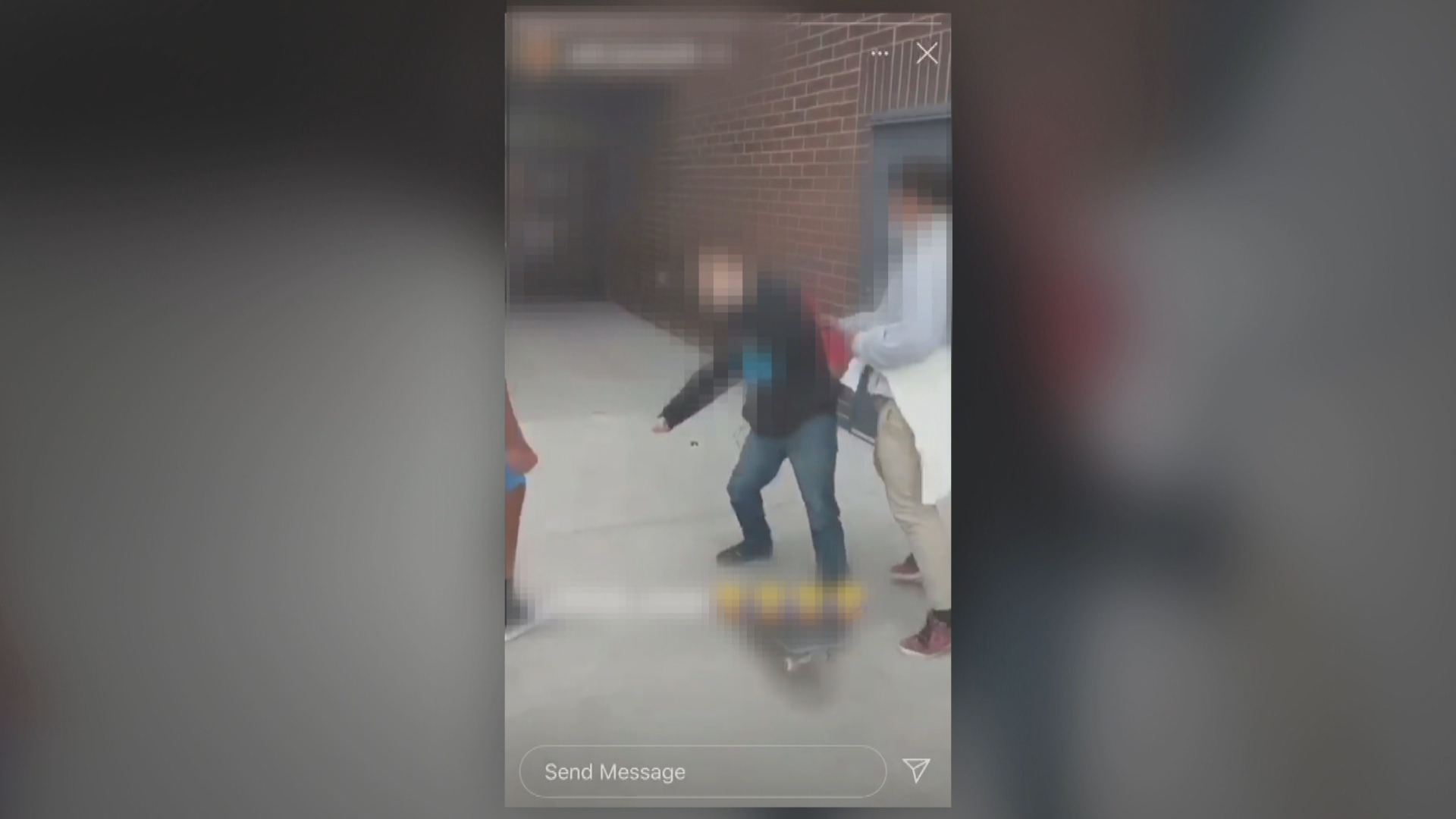 Bullies punch a teen in the face in an attack caught on video. (Video screengrab)