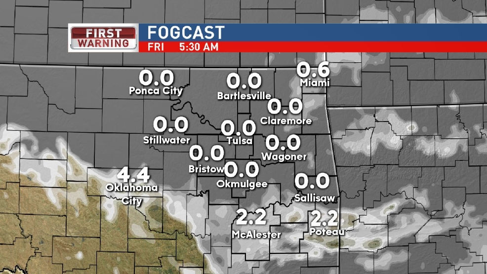 Dense fog possible overnight