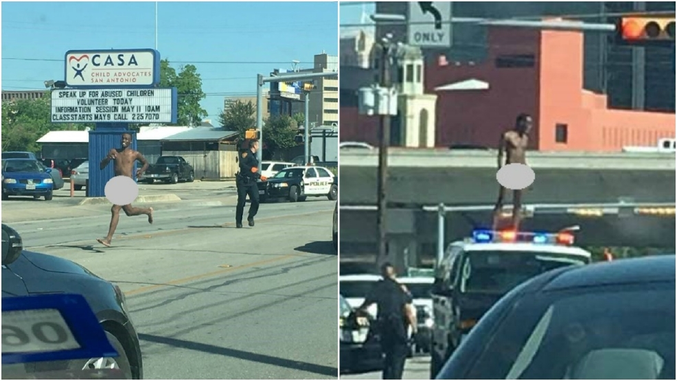 Nude Man Taunts Police Downtown Kabb