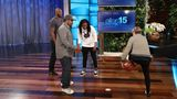 Notre Dame's Arike Ogunbowale plays hoops with Ellen, Kobe Bryant and Ice Cube
