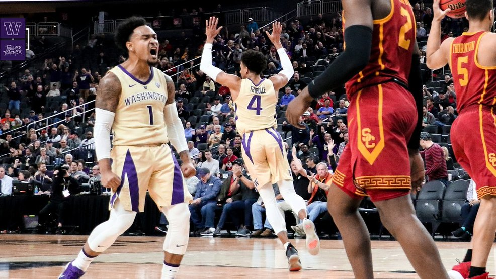 Huskies edge Trojans by 3 in Pac-12 quarterfinals