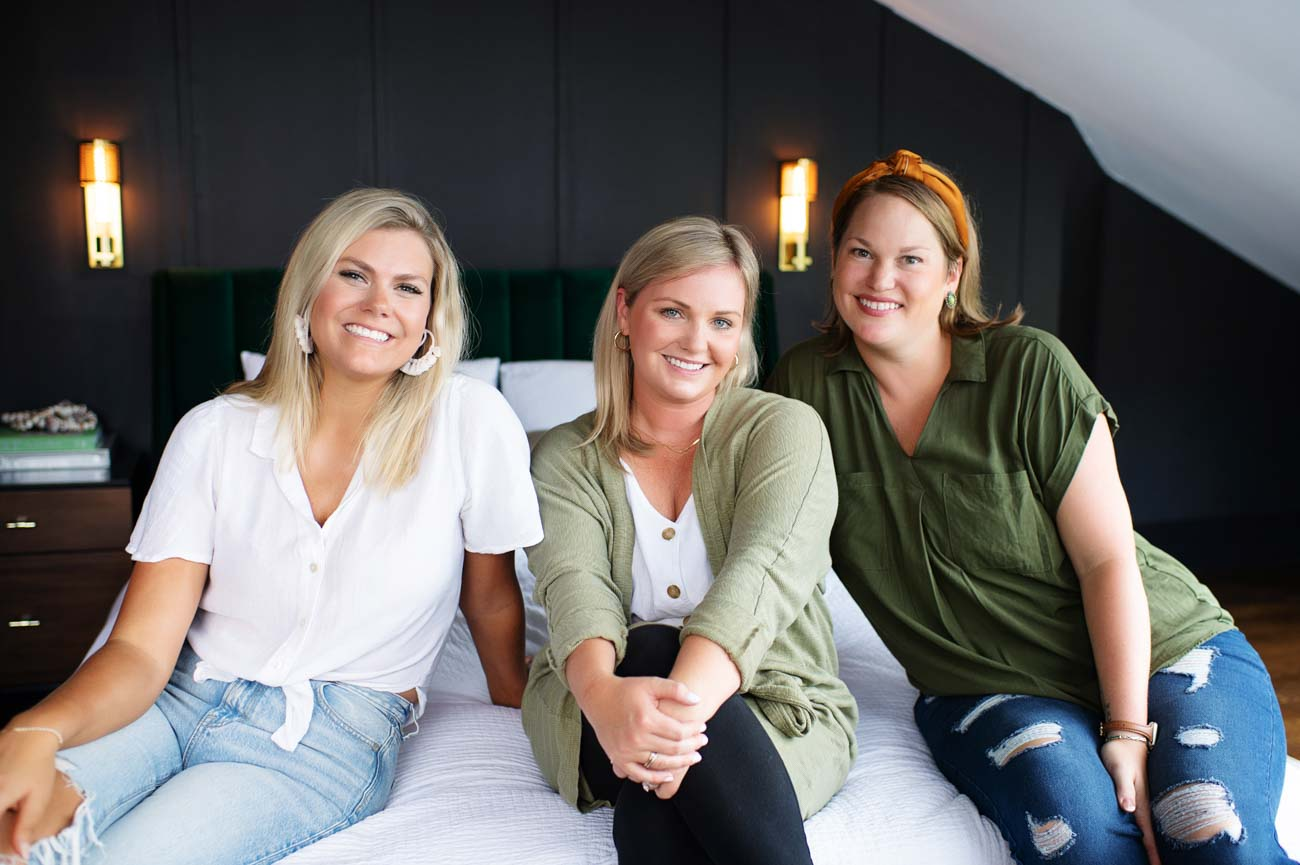 Natasha Bishop (owner and principal designer), Amanda Hiudt (designer and project coordinator), and Katie Rosa (business and client manager){ }/ Image courtesy of Kortnee Kate Photography // Published: 9.13.20