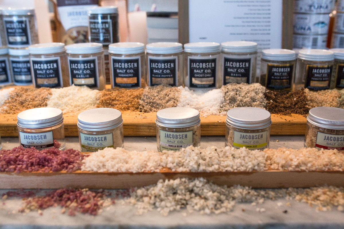 For more salt, go to Jacobsen Salt's tasting room in the Central Eastside. (Image: Paola Thomas / Seattle Refined)