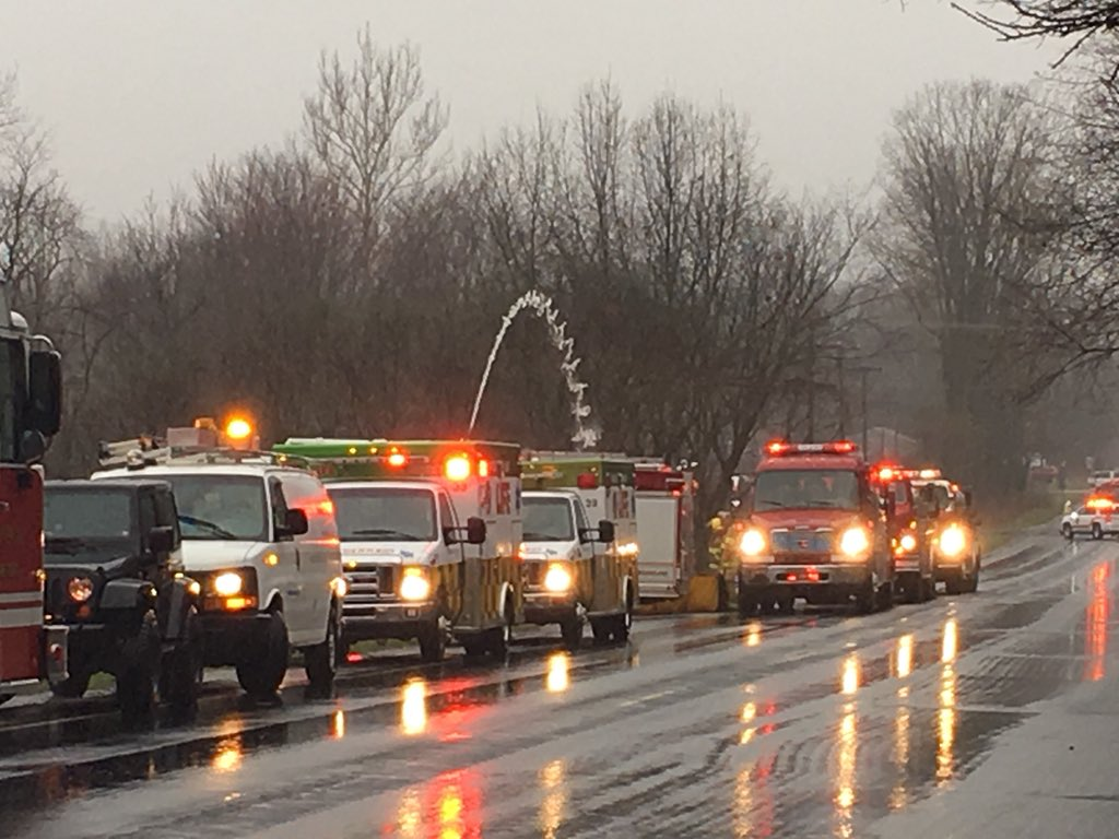 About two dozen firefighters on are the scene of a restaurant fire on D Avenue, the Club Car Grille. (WWMT/Jake Berent)