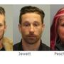 State Police: Traffic stop for 'move over law' leads to three arrests, list of charges