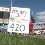 '420' rally draws medical marijuana supporters with flags and signs