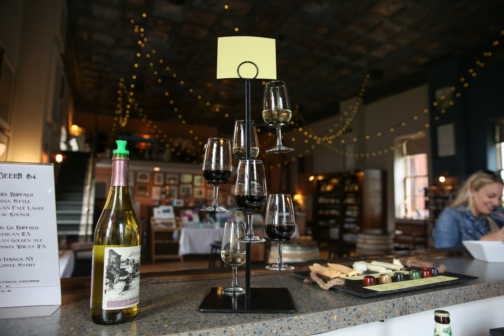 Flight of Five Winery in Lockport, which features local wines, cheeses and chocolates o their tasting menu.{ }(Amanda Andrade-Rhoades/DC Refined)