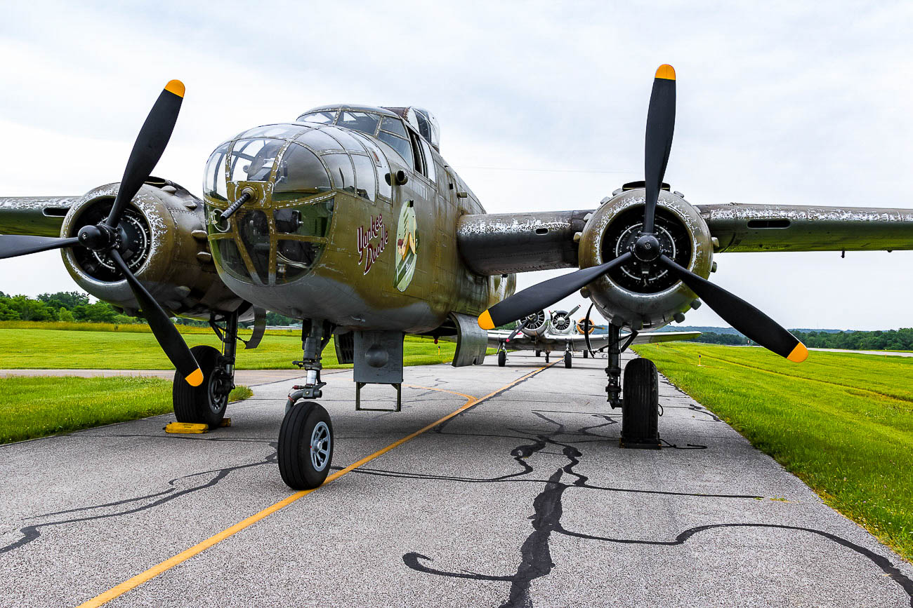 <p>The airplane is still in its movie paint. If you look closely, you'll notice the faux weathering that was painted on to look like it has been through war.{&nbsp;}/ Image: Ernie Muller // Published: 10.15.19<br></p>