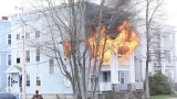 Fire rips through Lewiston apartment building, displaces 6