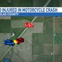 Motorcycle crash on I-57 Sunday sends two to hospital