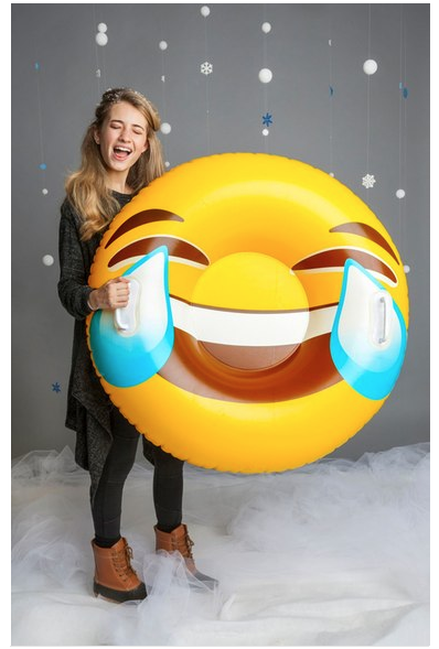 BigMouth Inc. Giant Tears of Joy Emoji Snow Tube ($24.99). Find on nordstrom.com. (Image: Nordstrom)
