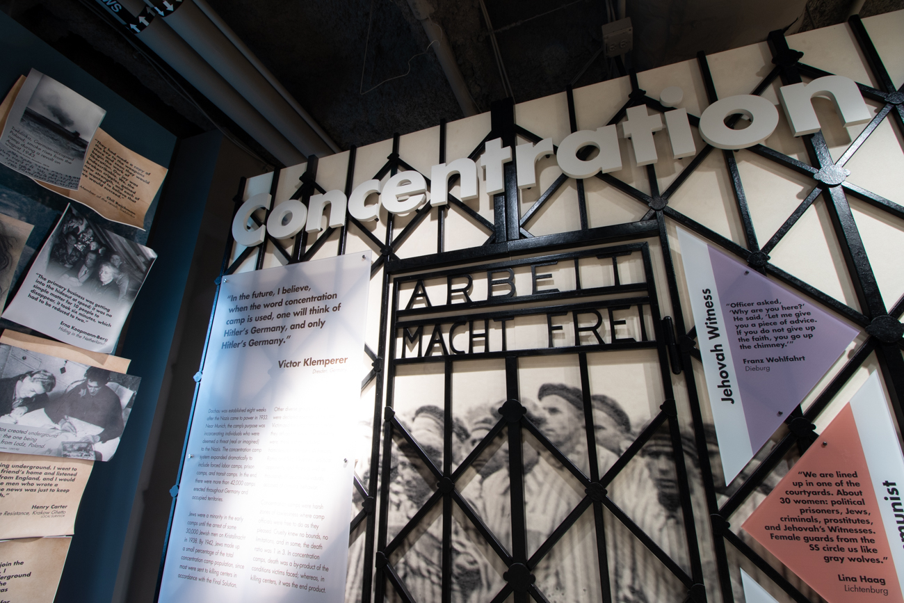 An exhibit space highlighting concentration camps / Image: Ronny Salerno // Published: 1.14.19