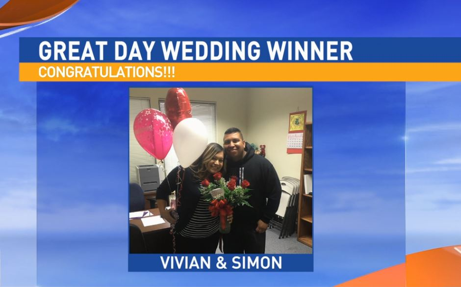 Congratulations to our Great Day Wedding winning couple, Vivan & Simon