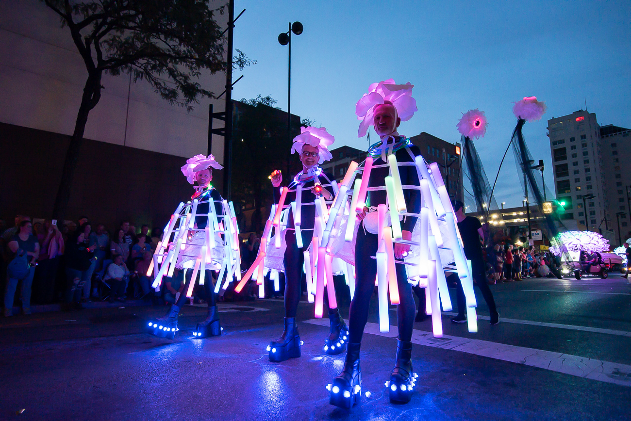 Lit BLINK Parade-goers / Image: Phil Armstrong // Published: 11.1.19