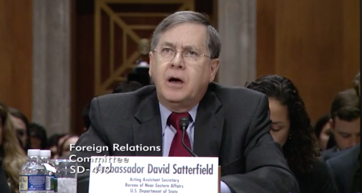 Senior Bureau Official for Near Eastern Affairs at the State Department and Former Ambassador to Lebanon, David Satterfield / Photo: Senate Foreign Relations Committee<p></p>