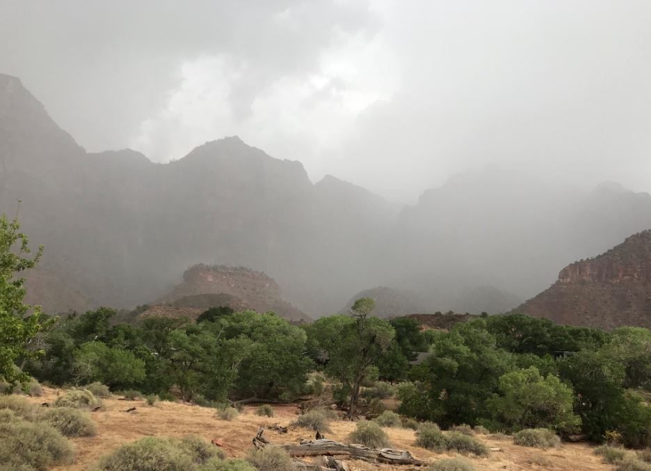 { }flash flood warning has been issued for southern Utah that includes St. George, Utah, and Zion National Park. (Photo: KUTV)