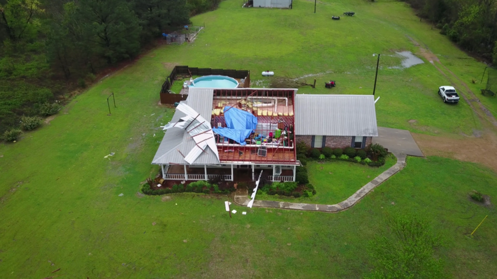 Inside the Storm: Drone captures footage of widespread tornado damage in Mississippi