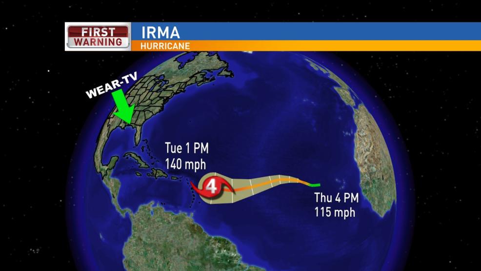 Hurricane Irma Strengthens To Category 3 Storm Wear