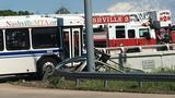 14 people treated for injuries after a crash with a Nashville bus