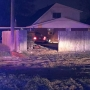 Car crashes into home in Moore