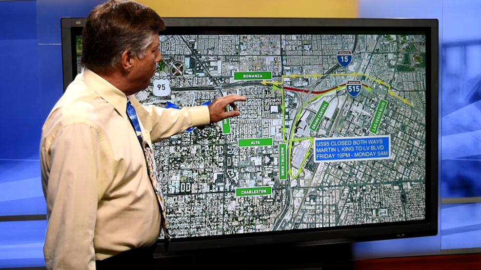 PROJECT NEON US 95 full closure this weekend downtown see