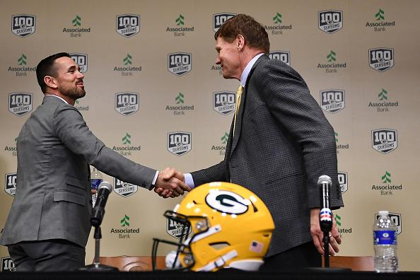 LaFleur (left) is the 15th head coach in Packers history.