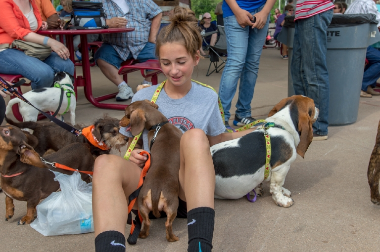 Cortney Iding with dogs / Image: Mike Menke / Published: 5.1.17