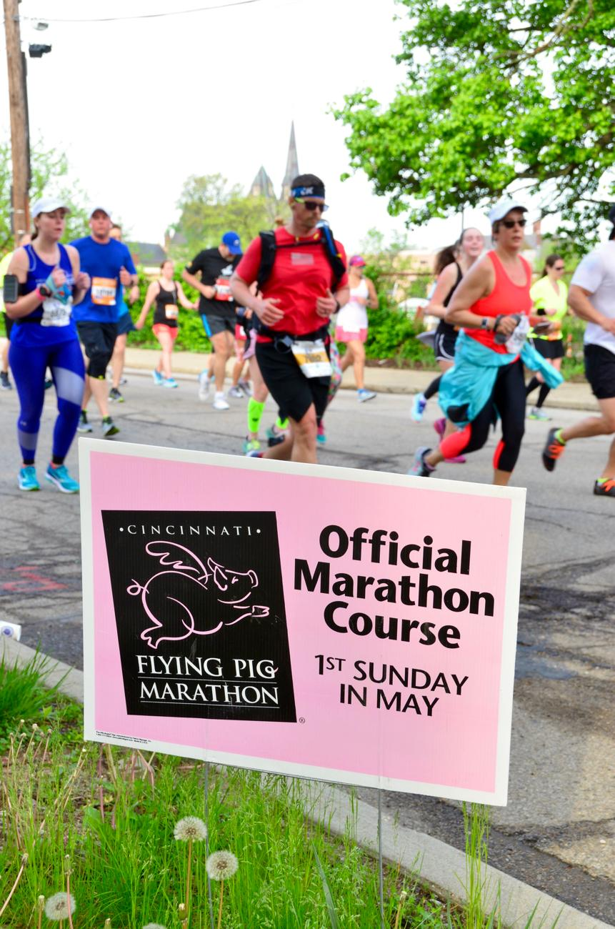 The 20th annual Flying Pig Marathon took place the morning of Sunday, May 6. / Image: Leah Zipperstein, Cincinnati Refined // Published: 5.7.18