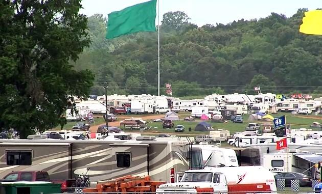 Hundreds of campers at the Talladega Superspeedway.