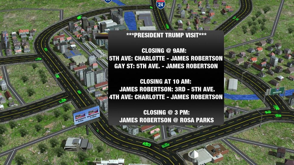 Road Closures Announced Ahead Of President Trump S